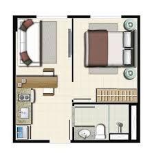 planta baixa de apartamento studio em hoteis - Pesquisa Google