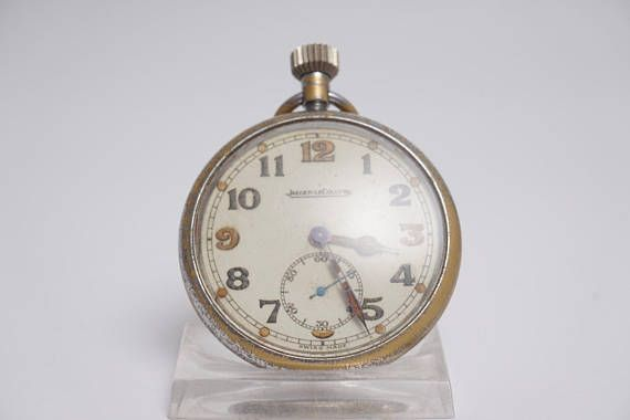 Jaeger Le Coultre GSTP Army Pocket Watch Open
