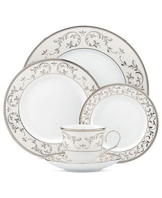 Lenox Dinnerware, Opal Innocence Silver Collection - Fine China - Dining & Entertaining - Macy's