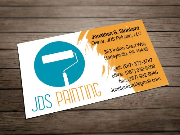 19 best business card ideas images on pinterest business for Painting and decorating advertising ideas
