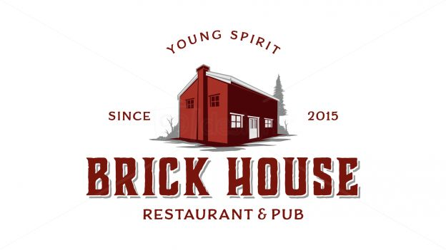 brick house restaurant on 99designs Logo Store
