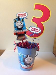 Thomas-the-Train-Birthday-Party-Supplies-Lot-CENTERPIECE-LOOK