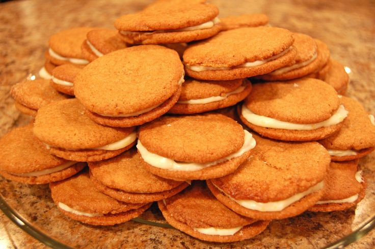 Gingersnap Sandwich Cookies with Orange Cream Cheese Filling - Eat at ...