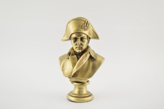 Napoleon bust statue / Bronze plated  6.7inches by CraftsAndMetal