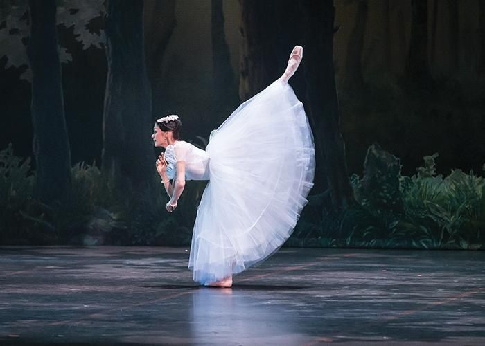 Hungarian National Ballet - Aliya Tanykpayeva in La Sylphide. Photo: Emma Kauldhar