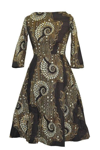 'Footprints' African Print Dress