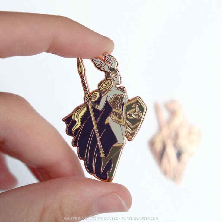 Beautiful Valkyrie Shield Maiden Pin by torynova on Etsy