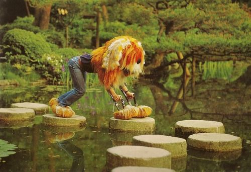 teachingliteracy:  loosetoon: Early 70's behind the scenes of Sesame Street with the Muppets.
