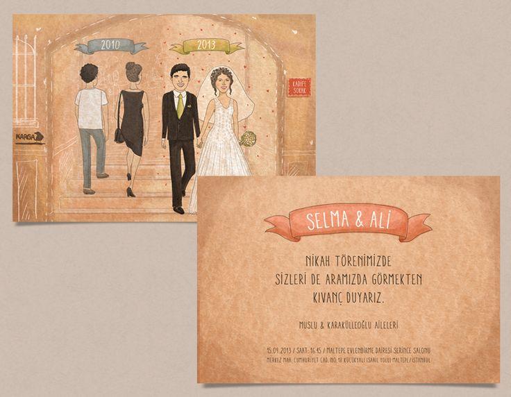 Selma ve Ali'ye özel olarak tasarladığımız davetiyemiz. #bentekim #bentekimdavetiye #davetiye #dugundavetiyesi #kisiyeozeldavetiye #ozeltasarimdavetiye #invitation #weddinginvitation #personalizedweddinginvitation #invitationdesign
