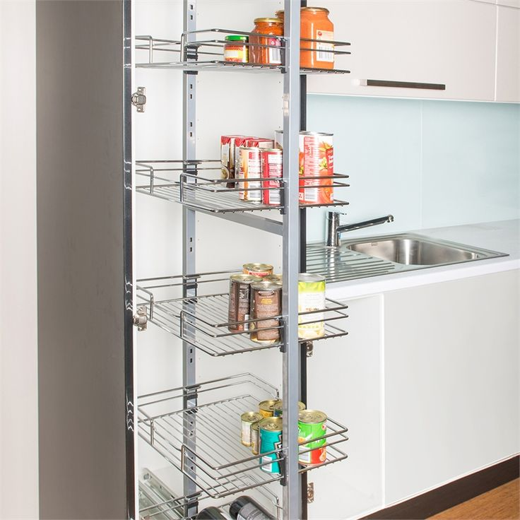 Restored 400mm 6 Tier Chrome Pantry Pullout I N 2666439