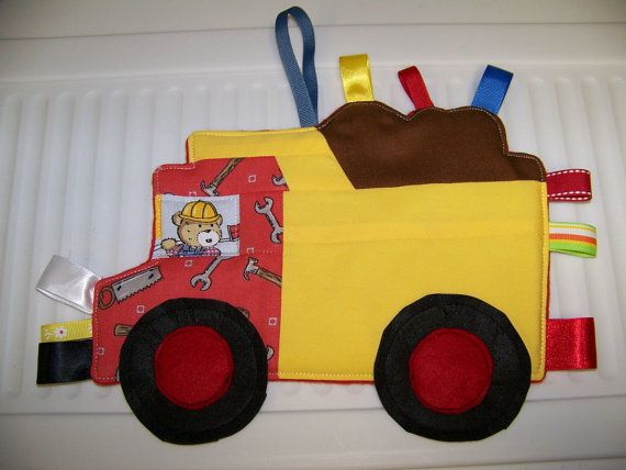 Dump Truck Patchwork Crinkle Taggie Toy pdf by civilwarlady, $4.99