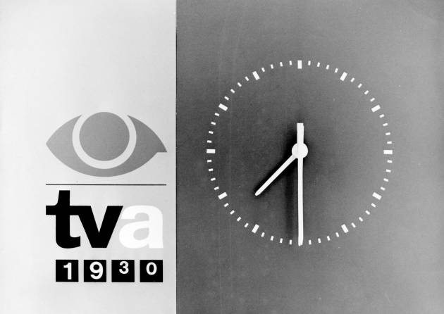 "Nostalgia. The old news clock from the Danish evening news show: ""TV-Avisen""."