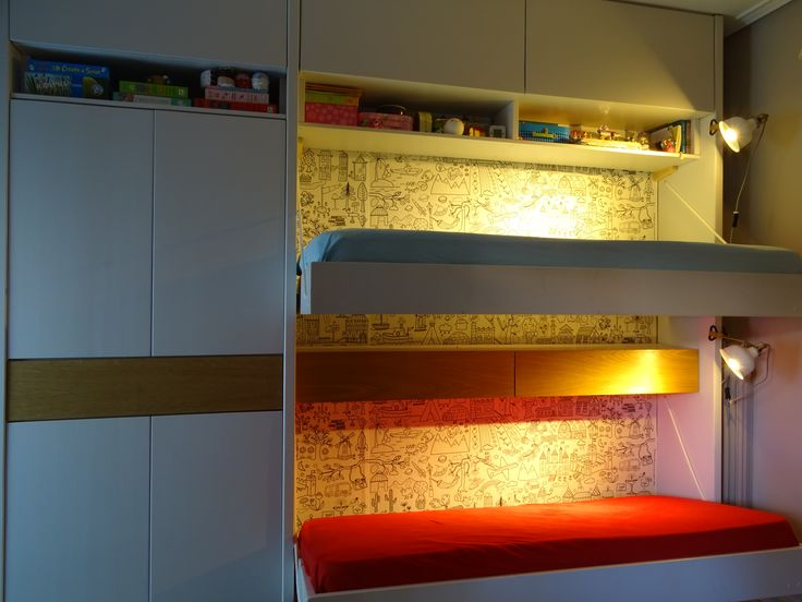 Bunk beds and cupboards. Research, design & construction by LEFKO.