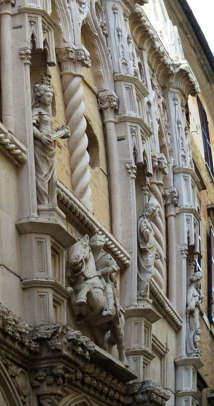 Ancona, Marche, Italy - Loggia dei Mercanti - Equestrian statue by Gianni Del Bufalo #destinazionemarche #marche #ancona