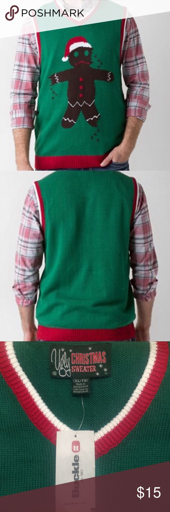 NWT. Ugly Christmas Sweater Vest NWT. Ugly Christmas Sweater Vest Sweaters