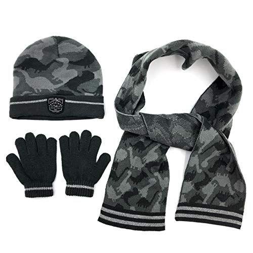 c53281100 accsa Winter Kids Boy Dinosaur Knit Hat Glove & Scarf set (Age 3-13 ...