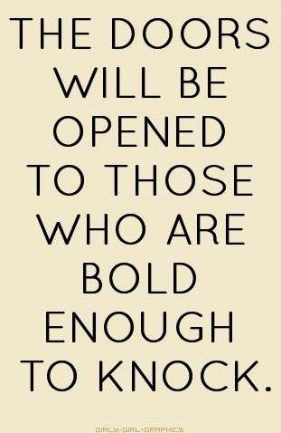 Be bold quote via www.Facebook.com/CareerBliss