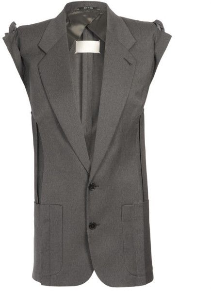 Maison Martin Margiela Deconstructed and Assembled Fine Wool Blazer in Gray (grey)