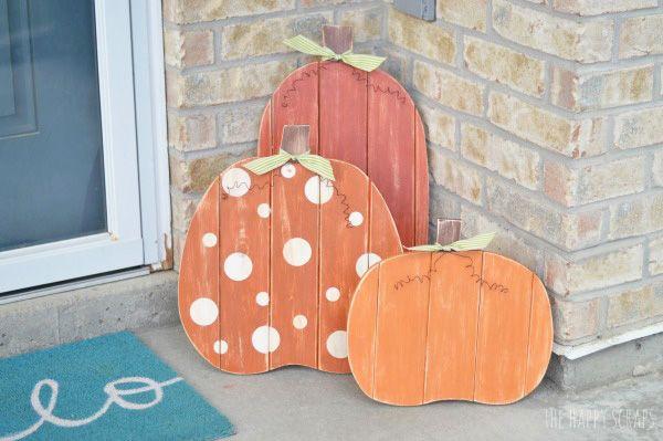 Fall Porch Pumpkins