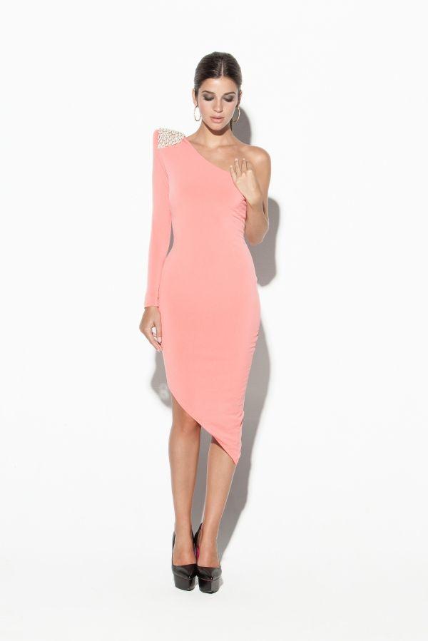 Vestido rosa viejo corto