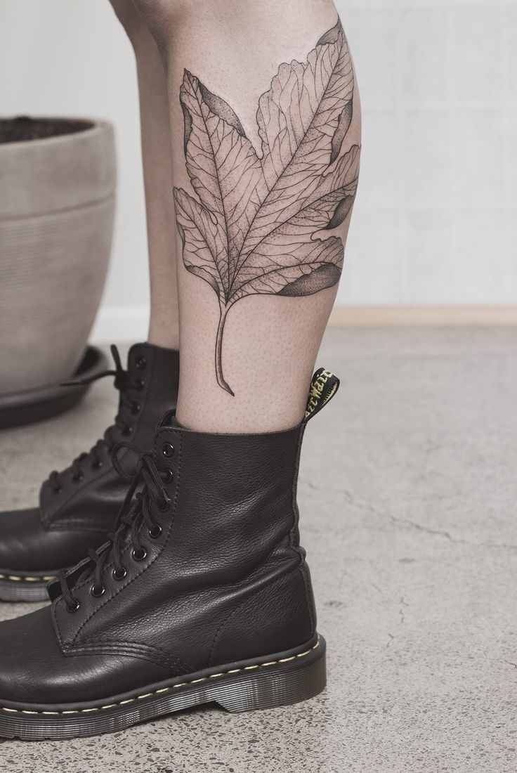Delicate Maple Leaf Tattoo. Love this. Would it work smaller???