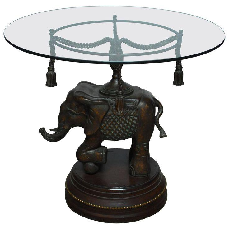 Bronze elephant pedestal side table pedestal side table