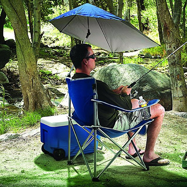 Outdoor Leisure Fishing Chair Portable Folding Sunshade Beach Chair Travel Camping Chair With Umbrella Review Beach Chairs Fishing Chair Outdoor Leisure