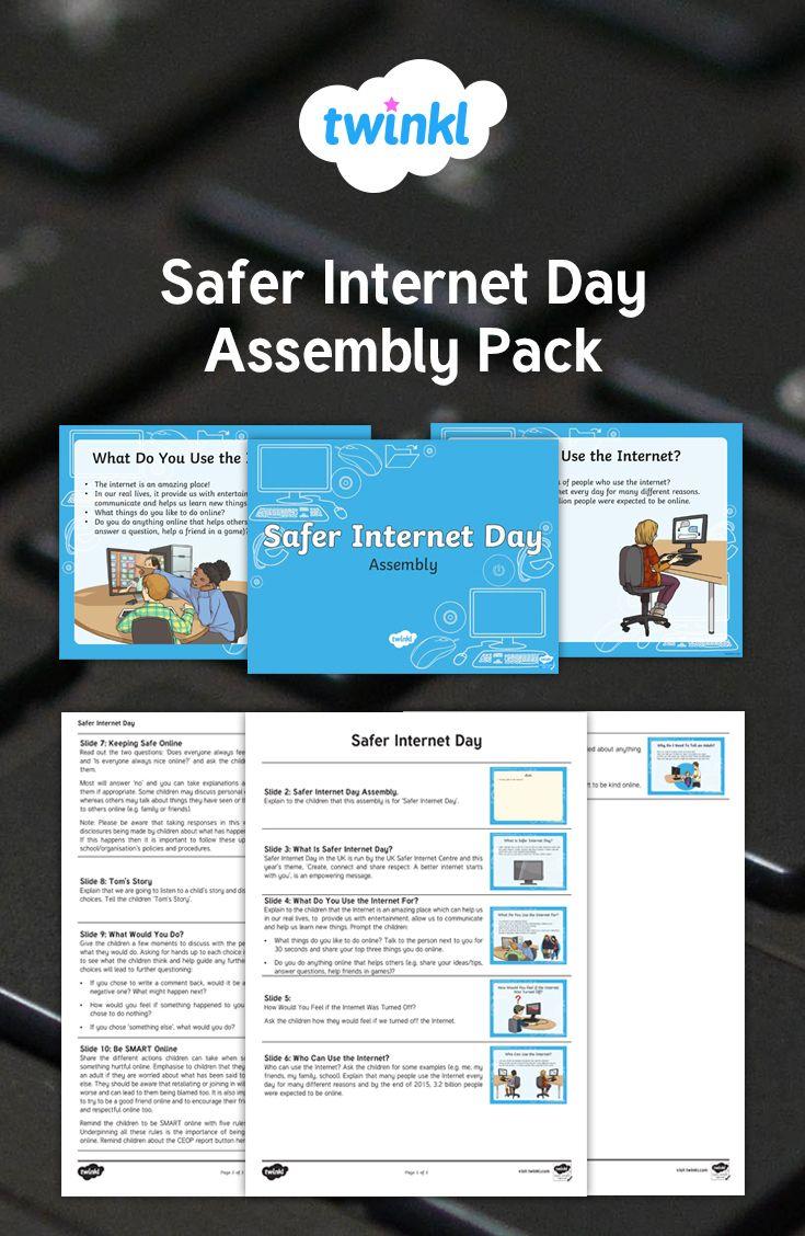Assembly Notes And Presentation For Safer Internet Day Safe Internet Teaching Technology Internet Safety