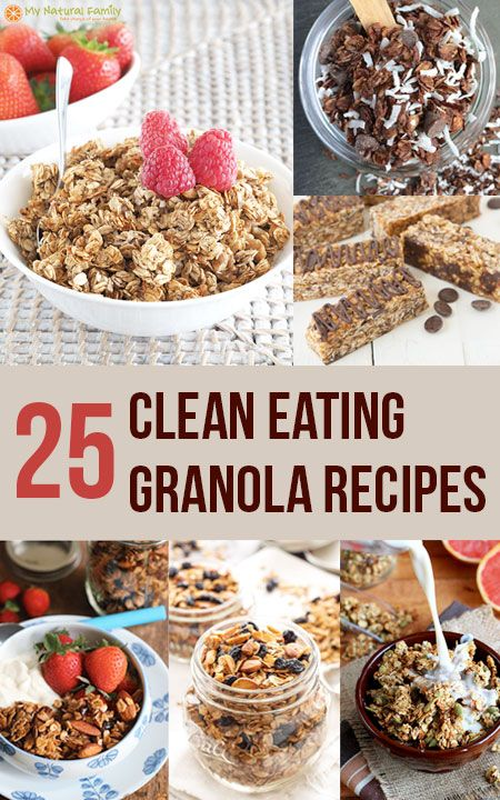 I love the selection of these 25 Clean Eating granola recipes and it's really easy to pick out my favorites with an image for each recipe.
