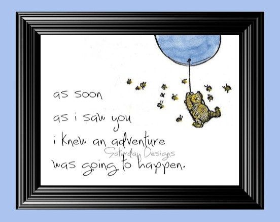 Adventure quote from Winnie the Pooh - 5x7, INSTANT DOWNLOAD on Etsy, $3.00