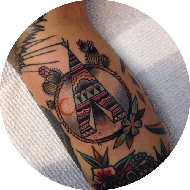 svmvnthv__w  Native American Teepee by the one and only @stevenmillarscott