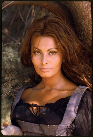 Sophia Loren - Loren was photographed by Milton Greene in Matera, Italy in 1967 to promote the film C'era Una Volta (More Than a Miracle), in which she played a peasant girl falling for Omar Sharif's prince.