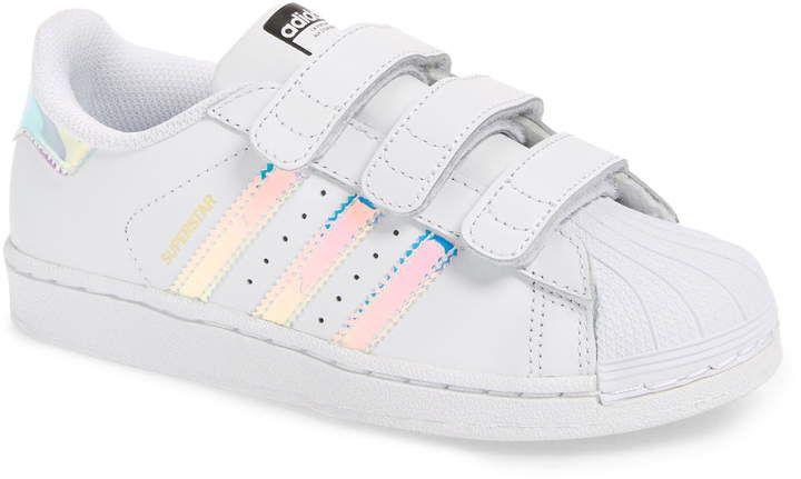 adidas Superstar Iridescent Sneaker (Baby, Walker, Toddler