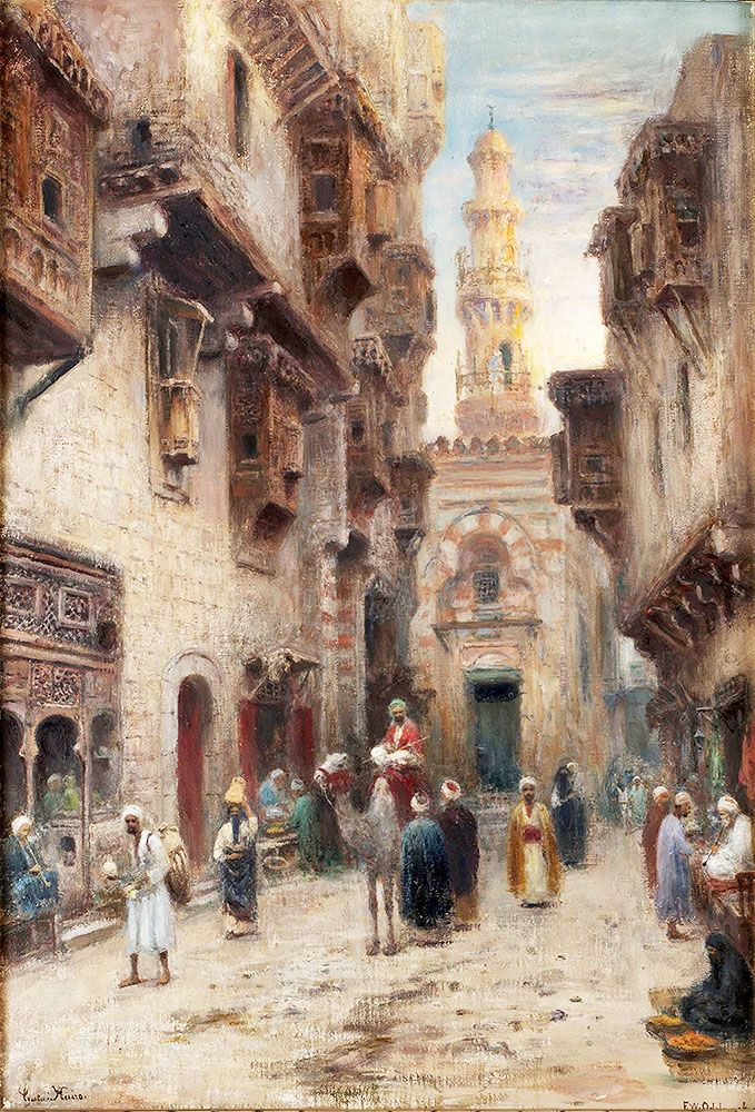 """odelmark frans wilhelm street in cairo (from <a href=""""http://www.oldpainters.org/picture.php?/31980/category/11901""""></a>)"""
