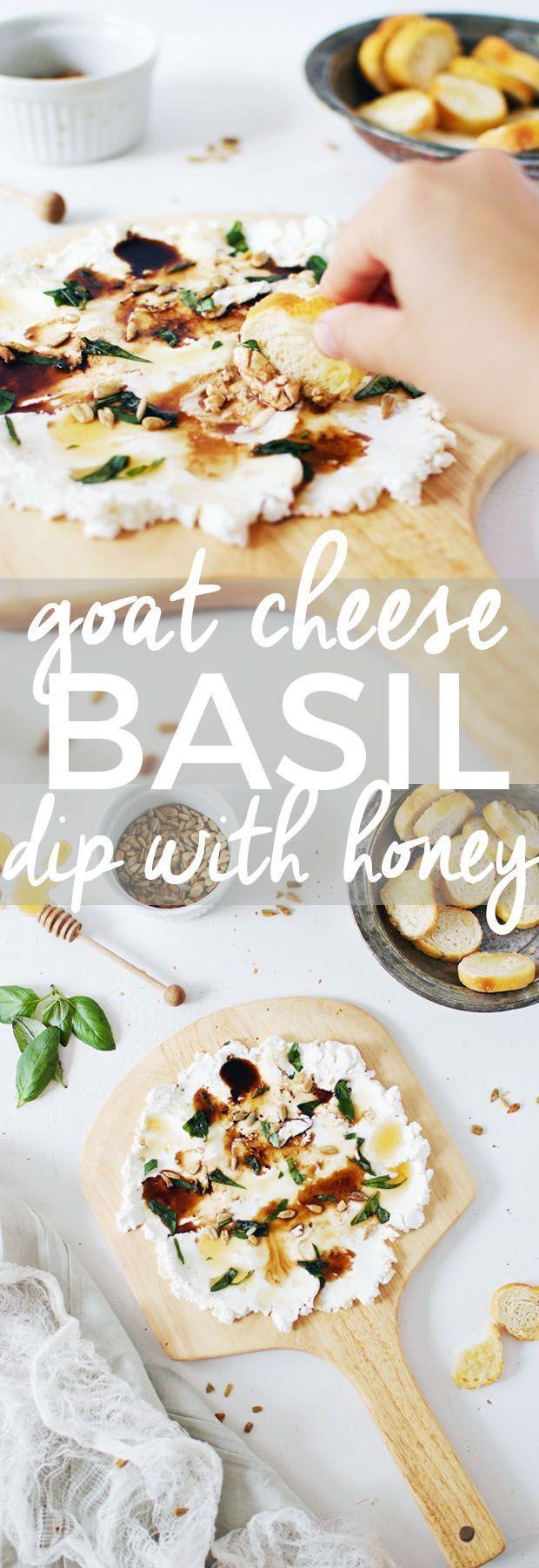 Goat  basil dip with