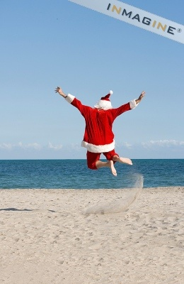 * Santa loves the beach ... Me too
