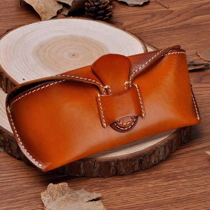 Unisex Handmade Leather Collection Hard Eyeglass от RayliHandmade