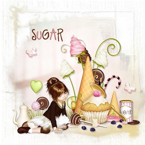 Too much sugar by Bel Scrap Brush by Tiramisu Designs Overlay by Taära Ryan