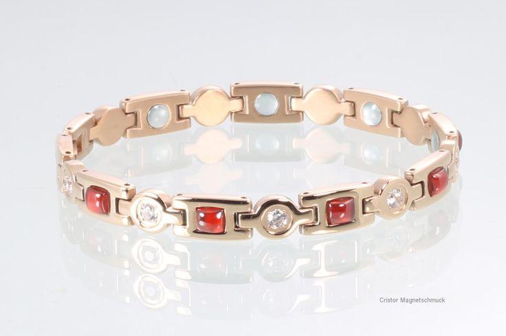 Magnetschmuck Magnetarmband rosegoldfarben mit Zirkonia € 59,00