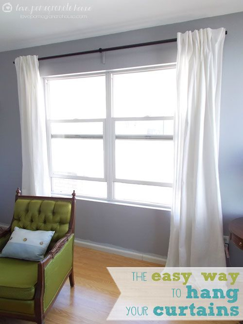 the easy way to hang your curtains