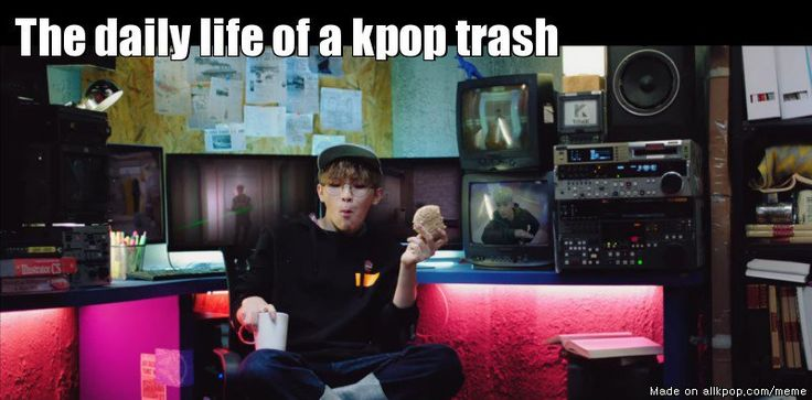 mvs on computers, updates on sns, kpop song on the radio