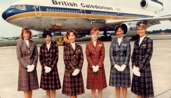 "Flight Attendants of British Caledonian. I loved the TV ads with "" I wish they all could be Caledonian Girls "" on the Beach Boys tune of California girls fame"