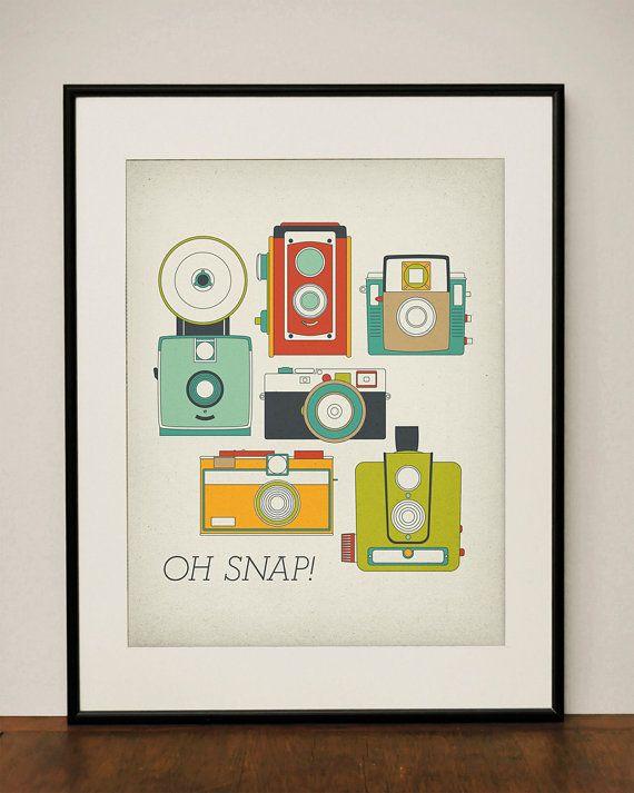 Retro vintage camera print $23.00