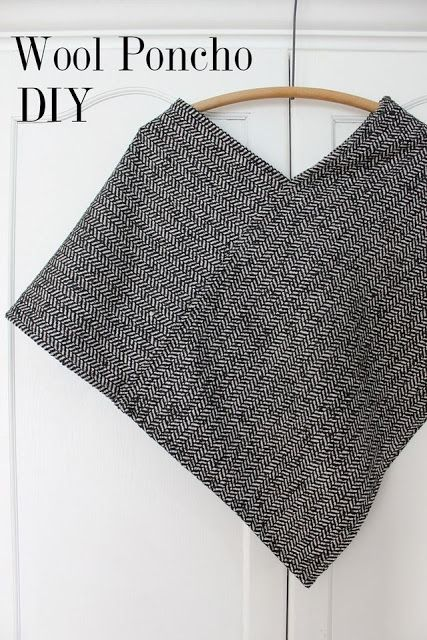 wool poncho sewing tutorial