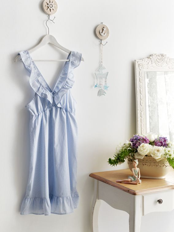 English Home Ev Giyimi Gecelik Englishhome Gecelik Mavi Giyim Elbiseler The Dress