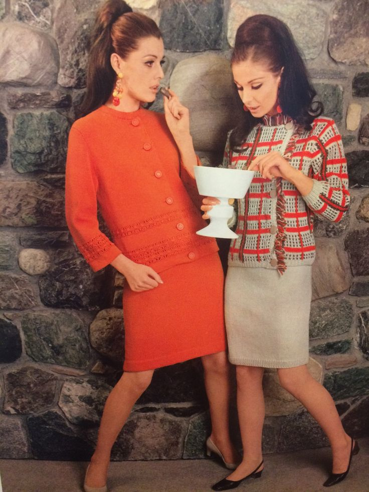 1967s knit & crochet book by Spinnerin volume 181 March into Fashion