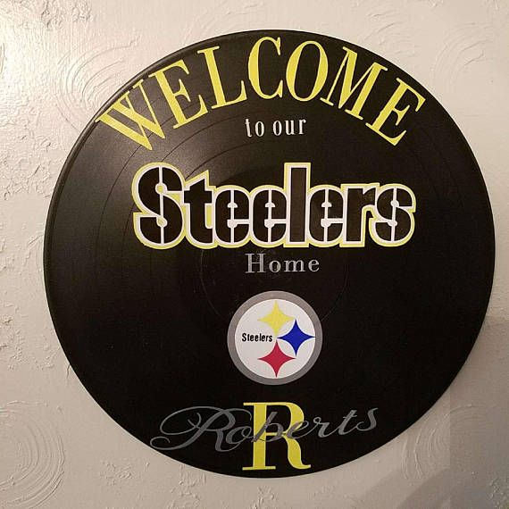 Personalized Pitsburg Steelers wall hanging. $20.00