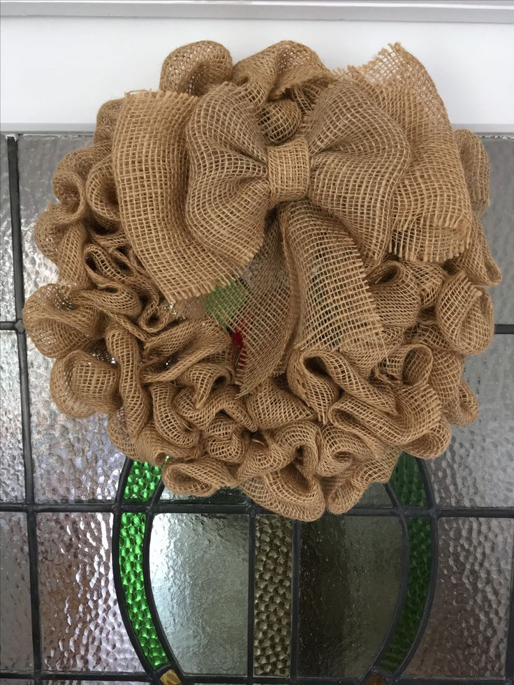 Burlap wreath https://www.etsy.com/uk/shop/Roseybuddles?ref=search_shop_redirect