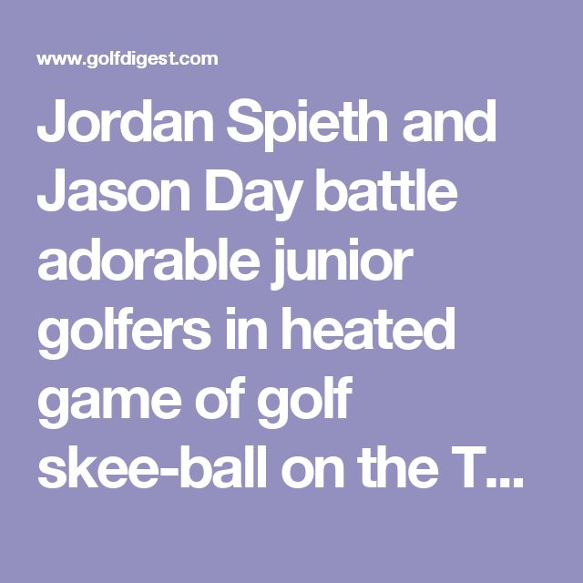Jordan Spieth and Jason Day battle adorable junior golfers in heated game of golf skee-ball on the Tonight Show - Golf Digest