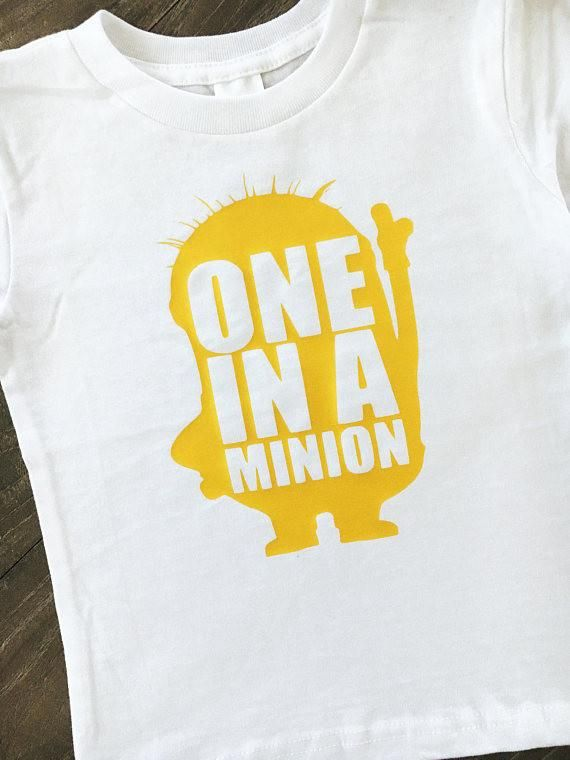 One In A Minion- Minion Birthday, Minions Theme, Universal Studios Birthday Party, Universal Trip, Baby Minion Onesie, Minion Gift, Despicab